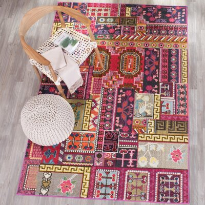 Chana Pink Area Rug Rug Size: Rectangle 4 x 57