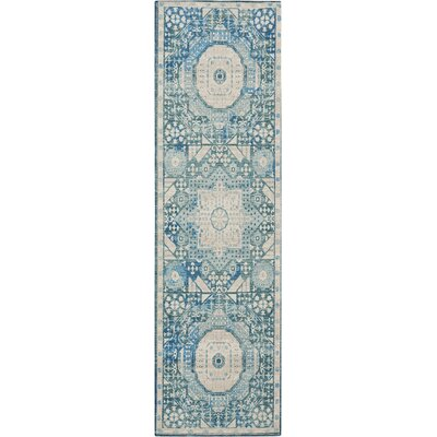 Union Point Teal Area Rug Rug Size: Runner 22 x 76