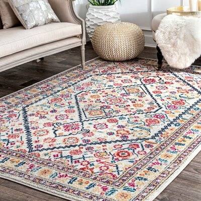 Perryville Off White Area Rug Rug Size: Runner 28 x 8