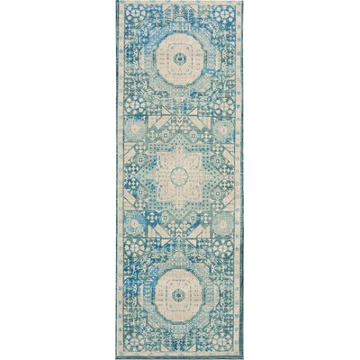 Union Point Teal Area Rug Rug Size: Runner 2 x 6