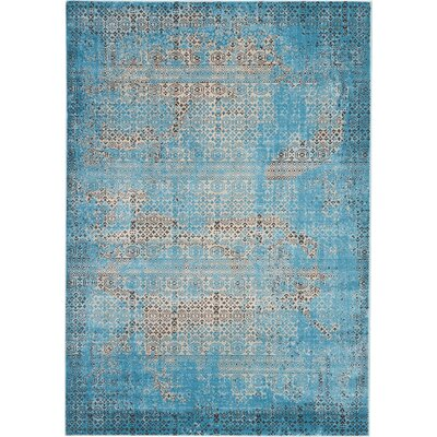 Saliba Blue Area Rug Rug Size: Rectangle 67 x 96