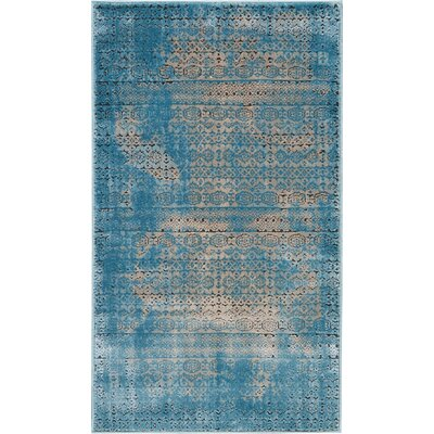 Saliba Blue Area Rug Rug Size: Rectangle 22 x 39