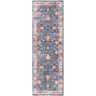 Perdue Navy Area Rug Rug Size: Runner 26 x 8