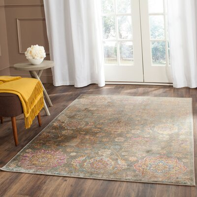 Beausejour Gray Area Rug Rug Size: Rectangle 53 x 76