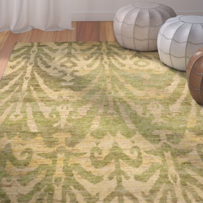 Pinehurst Oriental Green/Gold Area Rug Rug Size: Rectangle 4 x 6