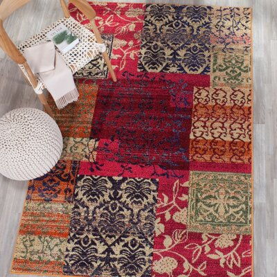 Ward Red Area Rug Rug Size: Rectangle 8 x 11