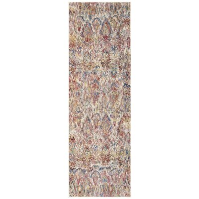Macdonald Light Gray/Rose Area Rug Rug Size: Runner 22 x 7