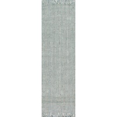 Windom Hand-Woven Gray Area Rug Rug Size: Runner 26 x 12