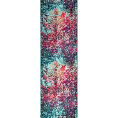 Taina Pink/Blue Area Rug Rug Size: Runner 25 x 8