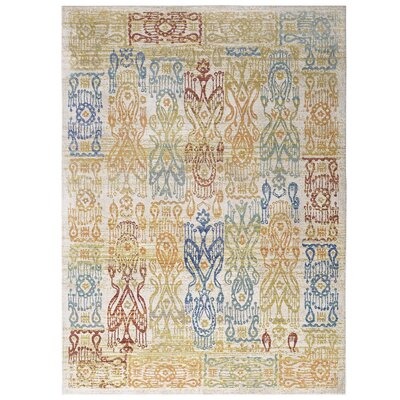 Donaldson Distressed Oriental Aztec Gold/Blue Area Rug Rug Size: Rectangle 8 x 10