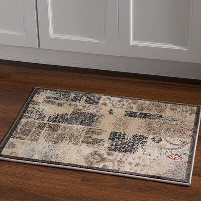 Pasho Beige/Gray Area Rug Rug Size: Rectangle 2 x 3