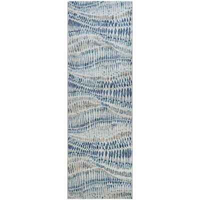 Sultan Bone Blue Area Rug Rug Size: Runner 2'7