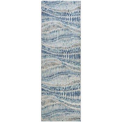 Sultan Bone Blue Area Rug Rug Size: Runner 27 x 71