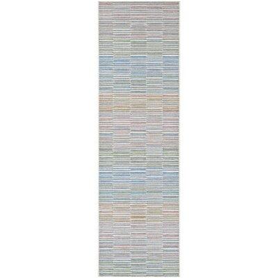 Belgium Gray/Blue Indoor/Outdoor Area Rug Rug Size: Runner 23 x 119