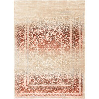 Aya Distressed Medallion Copper/Beige Area Rug Rug Size: Rectangle 311 x 57