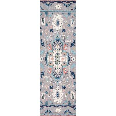 Caressa Handmade Gray Area Rug Rug Size: Runner 26 x 8