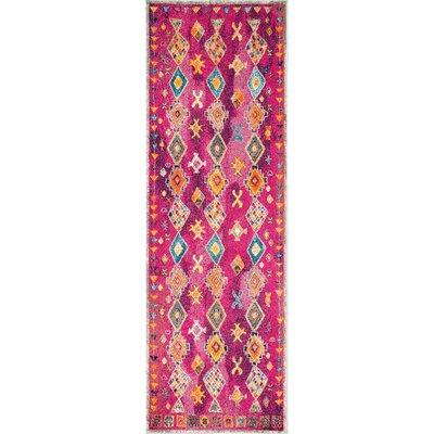Pesina Purple Area Rug Rug Size: Runner 28 x 8