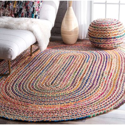 Sumitra Multicolor Area Rug Rug Size: Oval 7 x 9