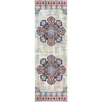Causey Yellow Area Rug Rug Size: Runner 28 x 8