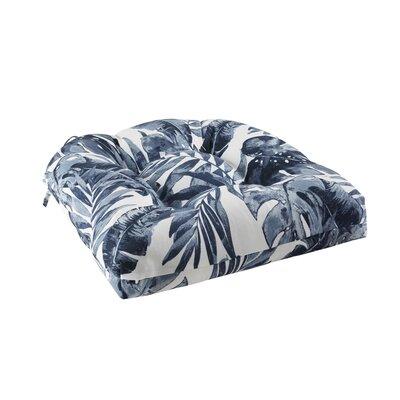 Image of Allyson 3M Scotchgard Indoor/Outdoor Dining Chair Cushion Color: Indigo