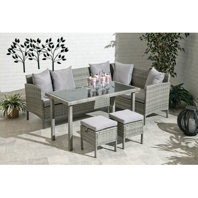 Petrone 4 Piece Dining Set with Cushions