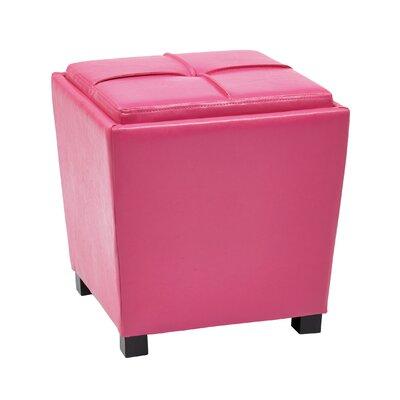 Isaac 2 Piece Ottoman Set Upholstery: Pink