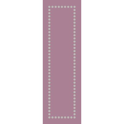 Dotted Line Pink Area Rug Rug Size: Runner 26 x 8