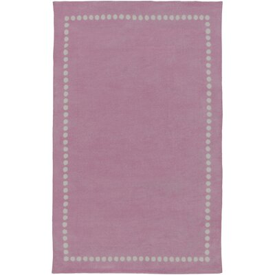 Dotted Line Pink Area Rug Rug Size: Rectangle 5 x 8