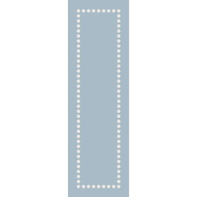 Abigail Blue Area Rug Rug Size: Runner 26 x 8