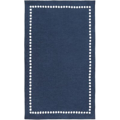 Abigail Navy Area Rug Rug Size: Rectangle 5 x 8