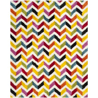 Kids Yellow/Red Area Rug Rug Size: Rectangle 8 x 10