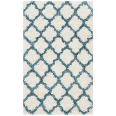 Martin Kids Ivory/Blue Area Rug Rug Size: Rectangle 3 x 5