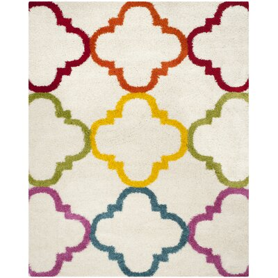 Kids Ivory/Yellow Area Rug Rug Size: Rectangle 8 x 10