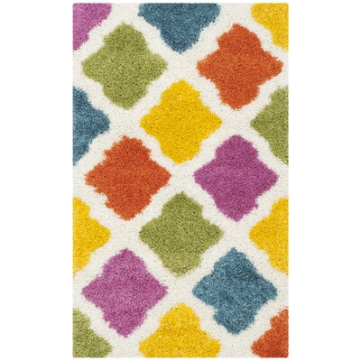 Ivory Area Rug Rug Size: Rectangle 86 x 12