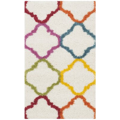 Kids Ivory/Yellow Area Rug Rug Size: Rectangle 23 X 5