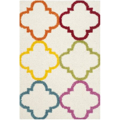 Kids Ivory/Yellow Area Rug Rug Size: Rectangle 53 x 76