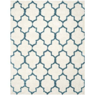 Martin Kids Ivory/Blue Area Rug Rug Size: Rectangle 8 x 10