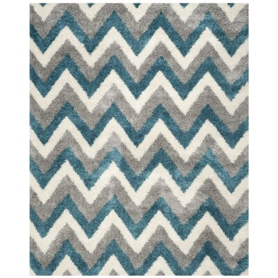 Kids Ivory/Blue/Gray Area Rug Rug Size: Rectangle 8 x 10