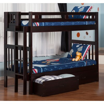 Duane Twin Over Twin Bunk Bed with Storage