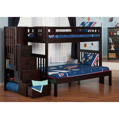 Margaret Twin Over Full Bunk Bed with Staircase