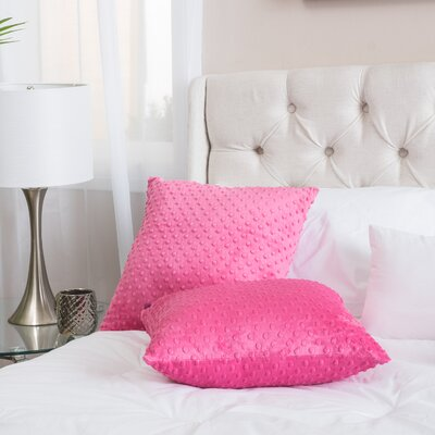 Charlotte Grace Throw Pillow Color: Pink