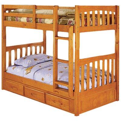 Kaitlyn Twin Bunk Bed Finish: Honey