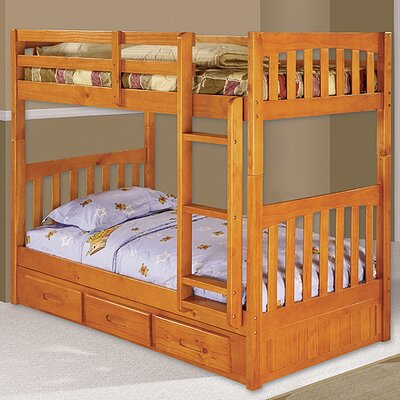 Kaitlyn Twin Bunk Bed Finish: Honey