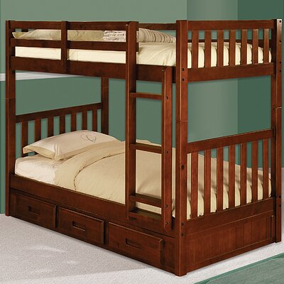 Kaitlyn Twin Bunk Bed Finish: Merlot