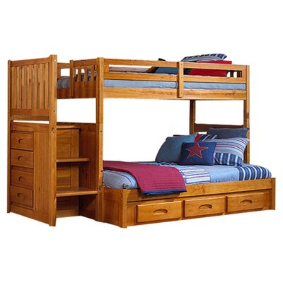 Kaitlyn Twin over Full Bunk Beds Finish: Honey