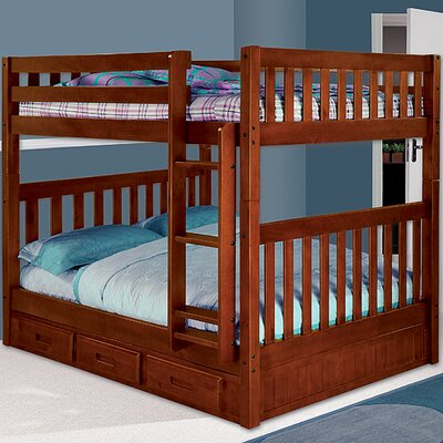 Kaitlyn Full over Full Bunk Bed Finish: Merlot