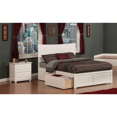 Egon Panel 2 Piece Bedroom Set Size: Full, Finish: White