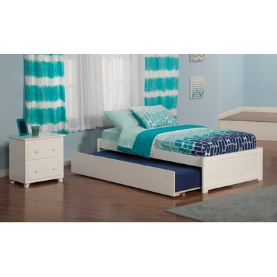 Concord Platform 2 Piece Bedroom Set Finish: White