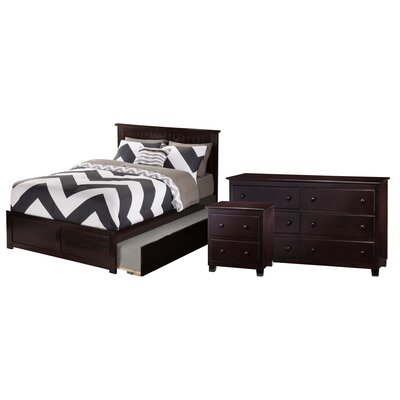 Ernest Nantucket Panel 3 Piece Bedroom Set Size: Twin, Finish: Espresso