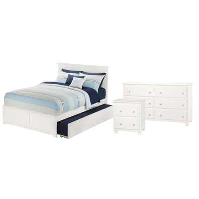Ernest Nantucket Panel 3 Piece Bedroom Set Size: Twin, Finish: White